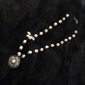 Silpada pearl and sterling necklace